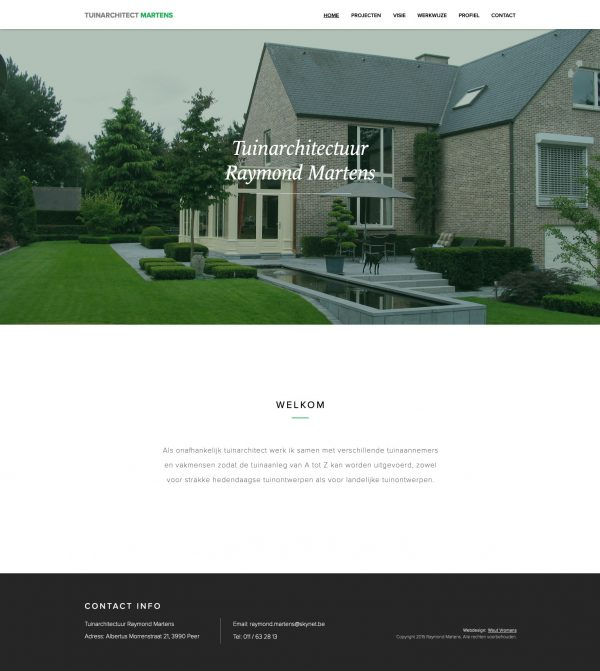 Tuinarchitect Martens Webdesign
