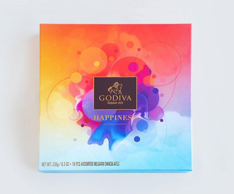 Godiva Happiness Verpakking Ontwerp
