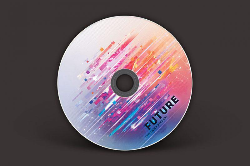 Future CD Cover Artwork Mockup