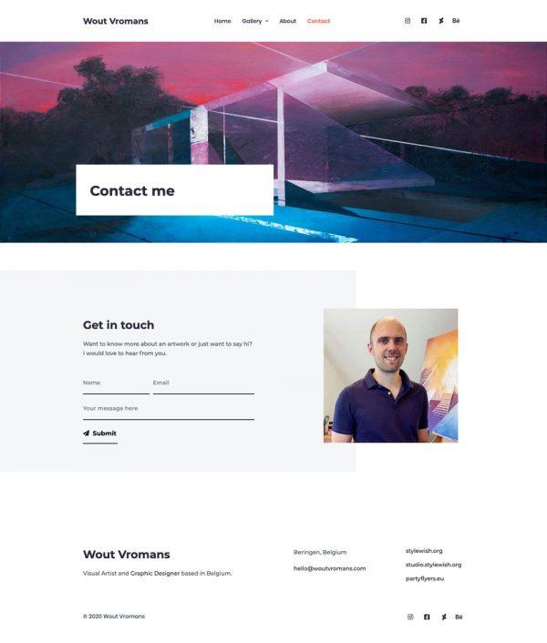 Wout Vromans Website Design